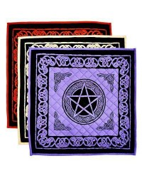Pentacle Cotton Meditation Mats - 3 Assorted Colors Mystic Convergence Metaphysical Supplies Metaphysical Supplies, Pagan Jewelry, Witchcraft Supply, New Age Spiritual Store