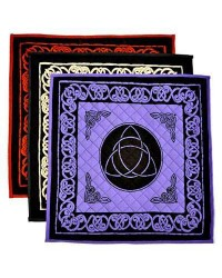 Triquetra Cotton Meditation Mats - 3 Assorted Colors Mystic Convergence Metaphysical Supplies Metaphysical Supplies, Pagan Jewelry, Witchcraft Supply, New Age Spiritual Store