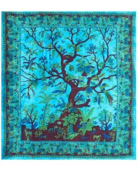 Tree of Life Blue Double Tapestry Mystic Convergence Metaphysical Supplies Metaphysical Supplies, Pagan Jewelry, Witchcraft Supply, New Age Spiritual Store