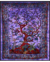Tree of Life Purple Double Tapestry Mystic Convergence Metaphysical Supplies Metaphysical Supplies, Pagan Jewelry, Witchcraft Supply, New Age Spiritual Store