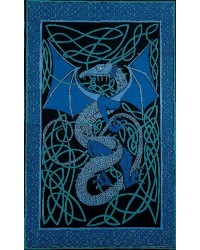 Celtic English Dragon Tapestry - Twin Size Blue Mystic Convergence Metaphysical Supplies Metaphysical Supplies, Pagan Jewelry, Witchcraft Supply, New Age Spiritual Store