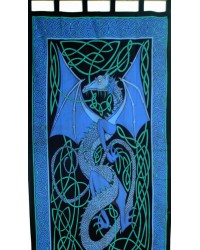 Celtic English Dragon Curtain - Blue Mystic Convergence Metaphysical Supplies Metaphysical Supplies, Pagan Jewelry, Witchcraft Supply, New Age Spiritual Store
