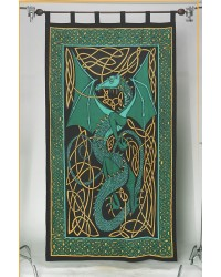 Celtic English Dragon Curtain - Green Mystic Convergence Metaphysical Supplies Metaphysical Supplies, Pagan Jewelry, Witchcraft Supply, New Age Spiritual Store