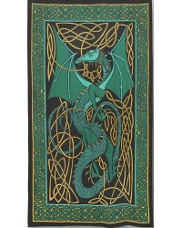 Celtic English Dragon Tapestry - Twin Size Green Mystic Convergence Metaphysical Supplies Metaphysical Supplies, Pagan Jewelry, Witchcraft Supply, New Age Spiritual Store