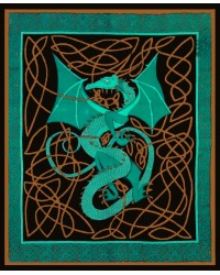 Celtic English Dragon Tapestry - Full Size Green Mystic Convergence Metaphysical Supplies Metaphysical Supplies, Pagan Jewelry, Witchcraft Supply, New Age Spiritual Store