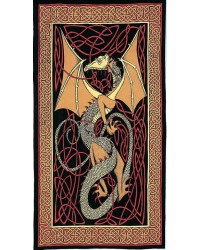 Celtic English Dragon Tapestry - Twin Size Red Mystic Convergence Metaphysical Supplies Metaphysical Supplies, Pagan Jewelry, Witchcraft Supply, New Age Spiritual Store