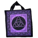 Triquetra Charmed Symbol Cotton Tote Bag at Mystic Convergence Metaphysical Supplies, Metaphysical Supplies, Pagan Jewelry, Witchcraft Supply, New Age Spiritual Store