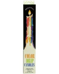 Multi Color Drip Taper Candles