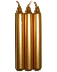 Gold Metallic Mini Taper Spell Candles