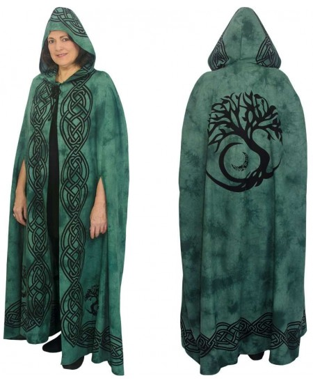 Green Tree of Life Hooded Cloak at Mystic Convergence Metaphysical Supplies, Metaphysical Supplies, Pagan Jewelry, Witchcraft Supply, New Age Spiritual Store