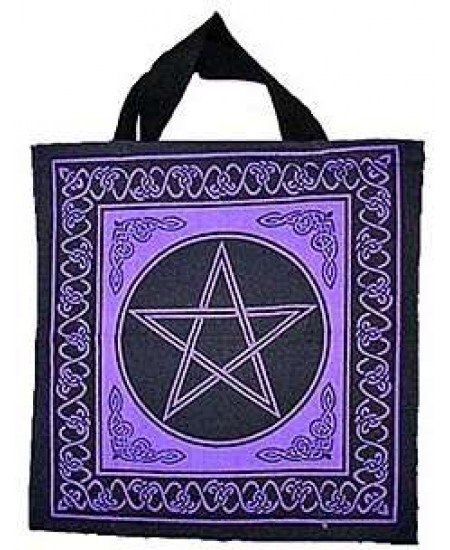 Pentagram Cotton Tote Bag at Mystic Convergence Metaphysical Supplies, Metaphysical Supplies, Pagan Jewelry, Witchcraft Supply, New Age Spiritual Store