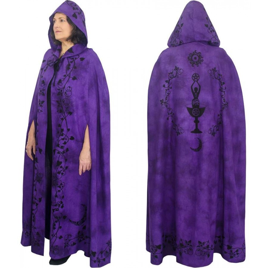 020323f957 Purple Moon Goddess Hooded Cloak at Mystic Convergence Metaphysical  Supplies