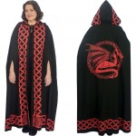 Red Dragon Black Hooded Cloak at Mystic Convergence Metaphysical Supplies, Metaphysical Supplies, Pagan Jewelry, Witchcraft Supply, New Age Spiritual Store