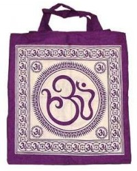 Sacred Om Symbol Cotton Tote Bag Mystic Convergence Metaphysical Supplies Metaphysical Supplies, Pagan Jewelry, Witchcraft Supply, New Age Spiritual Store