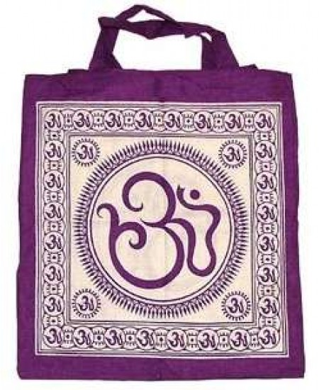 Sacred Om Symbol Cotton Tote Bag at Mystic Convergence Metaphysical Supplies, Metaphysical Supplies, Pagan Jewelry, Witchcraft Supply, New Age Spiritual Store