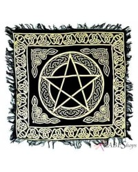 Pentacle Altar Cloth - Gold and Black Mystic Convergence Wiccan Supplies, Pagan Jewelry, Witchcraft Supplies, New Age Store
