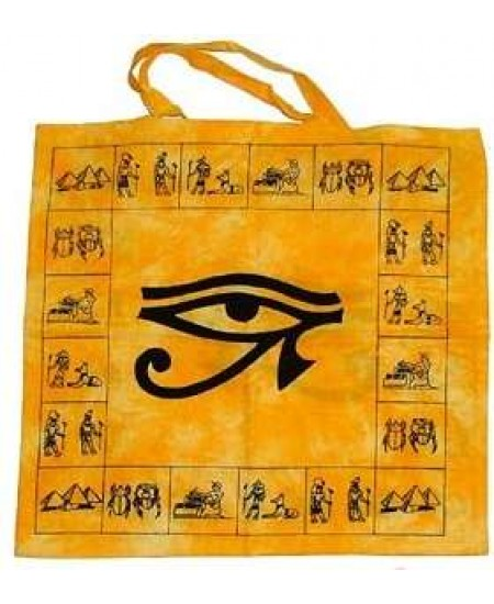 Egyptian Eye of Horus Cotton Tote Bag at Mystic Convergence Metaphysical Supplies, Metaphysical Supplies, Pagan Jewelry, Witchcraft Supply, New Age Spiritual Store