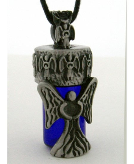 Angel Pewter Bottle Necklace