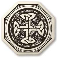 Celtic Cross Octogonal Porcelain Necklace