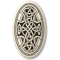 Celtic Cross Oval Porcelain Necklace