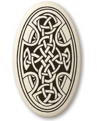 Celtic Cross Oval Porcelain Necklace Mystic Convergence Metaphysical Supplies Metaphysical Supplies, Pagan Jewelry, Witchcraft Supply, New Age Spiritual Store