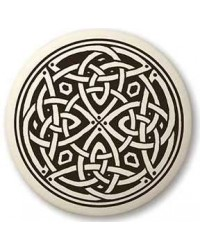 Celtic Spiritual Journey Porcelain Round Necklace Mystic Convergence Metaphysical Supplies Metaphysical Supplies, Pagan Jewelry, Witchcraft Supply, New Age Spiritual Store