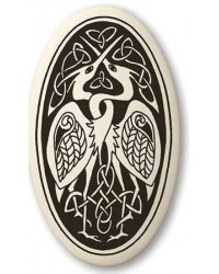 Birds Celtic Porcelain Oval Necklace Mystic Convergence Magical Supplies Wiccan Supplies, Pagan Jewelry, Witchcraft Supplies, New Age Store