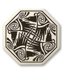 Nehalennia Celtic Octagon Raven Porcelain Necklace Mystic Convergence Metaphysical Supplies Metaphysical Supplies, Pagan Jewelry, Witchcraft Supply, New Age Spiritual Store