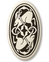 Hare Celtic Rabbit Porcelain Oval Necklace Mystic Convergence Metaphysical Supplies Metaphysical Supplies, Pagan Jewelry, Witchcraft Supply, New Age Spiritual Store