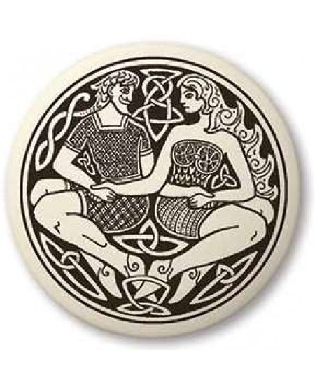 Divine Couple Celtic Round Porcelain Necklace at Mystic Convergence Metaphysical Supplies, Metaphysical Supplies, Pagan Jewelry, Witchcraft Supply, New Age Spiritual Store