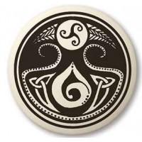 Cerridwen, Goddess of Transformation Porcelain Necklace