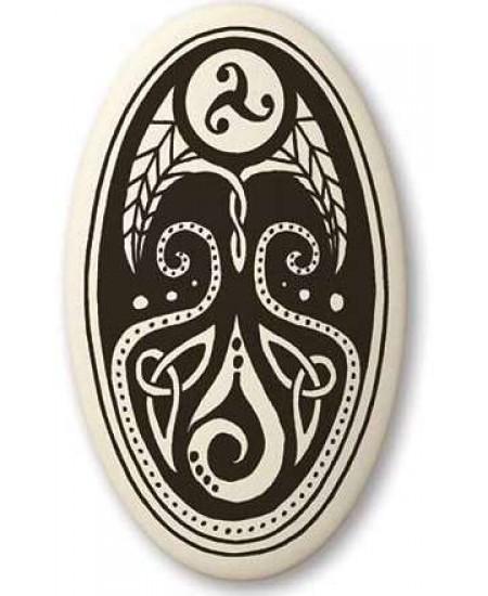 Cerridwen, Goddess of Transformation Oval Porcelain Necklace