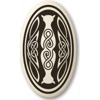 Cat Celtic Oval Porcelain Necklace