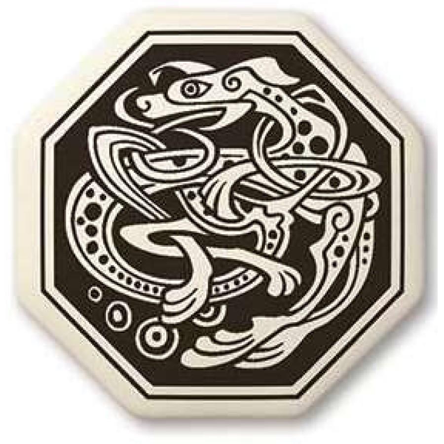 Celtic Dog Octagon Porcelain Necklace