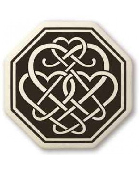 Celtic Heart Octagon Porcelain Necklace at Mystic Convergence Metaphysical Supplies, Metaphysical Supplies, Pagan Jewelry, Witchcraft Supply, New Age Spiritual Store
