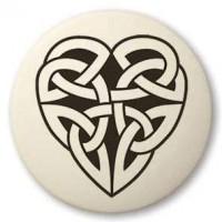 Celtic Heart Round Porcelain Necklace
