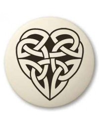 Celtic Heart Round Porcelain Necklace Mystic Convergence Metaphysical Supplies Metaphysical Supplies, Pagan Jewelry, Witchcraft Supply, New Age Spiritual Store