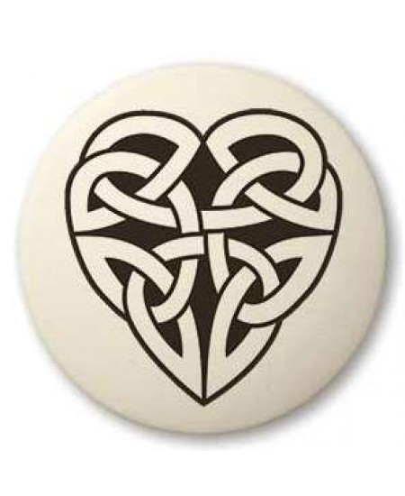 Celtic Heart Round Porcelain Necklace at Mystic Convergence Metaphysical Supplies, Metaphysical Supplies, Pagan Jewelry, Witchcraft Supply, New Age Spiritual Store
