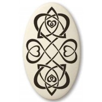 Celtic Heart Oval Porcelain Necklace