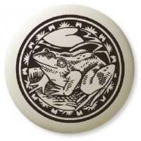 American Bullfrog Pathfinder Animal Totem Porcelain Necklace