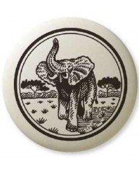 African Elephant Pathfinder Animal Totem Porcelain Necklace Mystic Convergence Magical Supplies Wiccan Supplies, Pagan Jewelry, Witchcraft Supplies, New Age Store