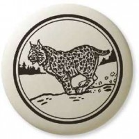 Bobcat Pathfinder Animal Totem Porcelain Necklace