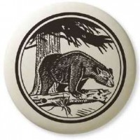 Black Bear Pathfinder Animal Totem Porcelain Necklace
