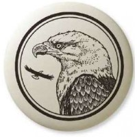 Bald Eagle Pathfinder Animal Totem Porcelain Necklace