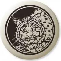 Bobcat Animal Totem Porcelain Necklace