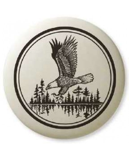 Bald Eagle Soaring Pathfinder Totem Porcelain Necklace at Mystic Convergence Metaphysical Supplies, Metaphysical Supplies, Pagan Jewelry, Witchcraft Supply, New Age Spiritual Store