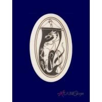 Dragon Banner Arthurian Legends Porcelain Necklace