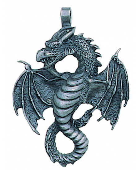 Air Dragon Pewter Necklace at Mystic Convergence Metaphysical Supplies, Metaphysical Supplies, Pagan Jewelry, Witchcraft Supply, New Age Spiritual Store
