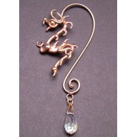 Bronze Dragon Ear Wrap with Crystal