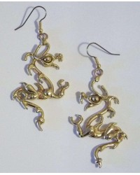 Bronze Dragon Earring Pair Mystic Convergence Wiccan Supplies, Pagan Jewelry, Witchcraft Supplies, New Age Store